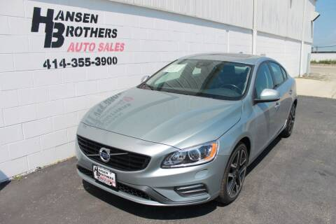 2018 Volvo S60 for sale at HANSEN BROTHERS AUTO SALES in Milwaukee WI