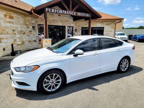 2017 Ford Fusion for sale at Performance Motors Killeen Second Chance in Killeen TX