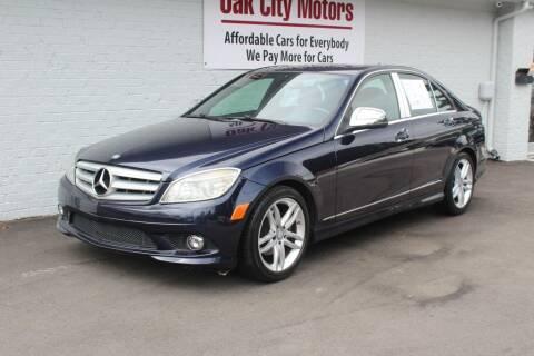 2009 Mercedes-Benz C-Class for sale at Oak City Motors in Garner NC