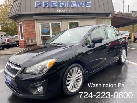2012 Subaru Impreza for sale at Premiere Auto Sales in Washington PA