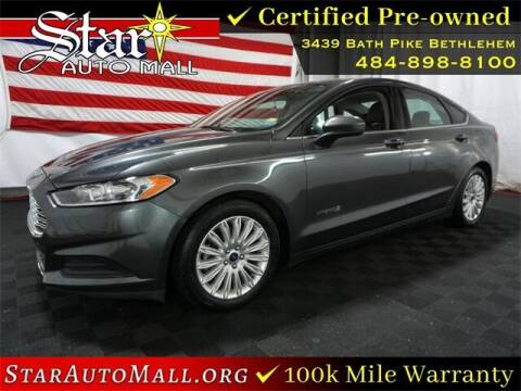 2015 Ford Fusion Hybrid for sale at STAR AUTO MALL 512 in Bethlehem PA