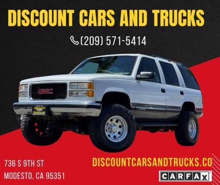 1999 GMC Yukon for sale at Discount Cars & Trucks in Modesto CA