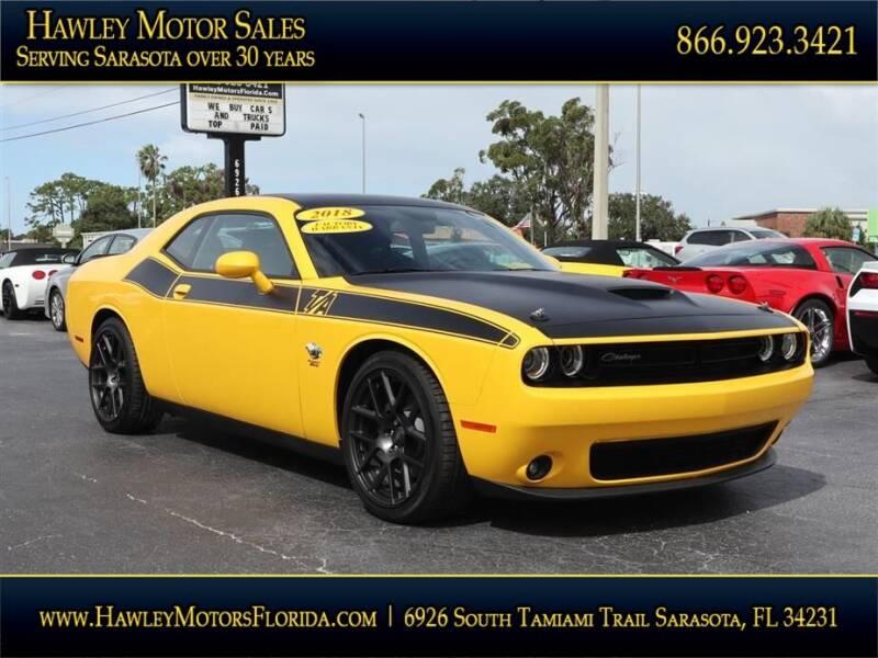 2018 Dodge Challenger for sale at Hawley Motor Sales in Sarasota FL