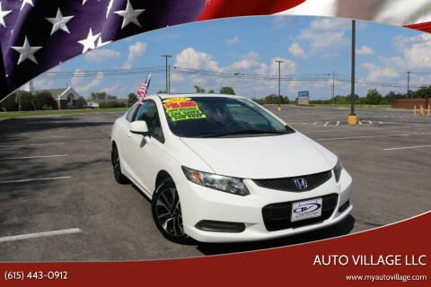 2013 Honda Civic for sale at AUTO VILLAGE LLC in Lebanon TN