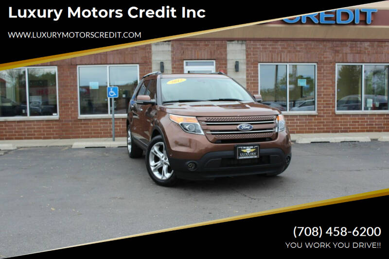 2012 Ford Explorer for sale at Luxury Motors Credit Inc in Bridgeview IL