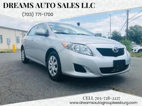 2009 Toyota Corolla for sale at Dreams Auto Sales LLC in Leesburg VA