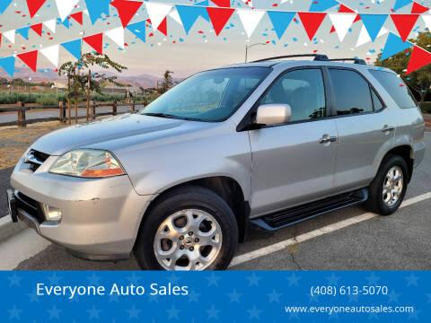 2002 Acura MDX for sale at Everyone Auto Sales in Santa Clara CA