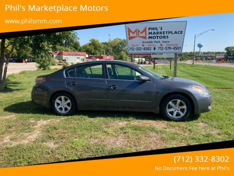 2008 Nissan Altima for sale at Phil's Marketplace Motors in Arnolds Park IA
