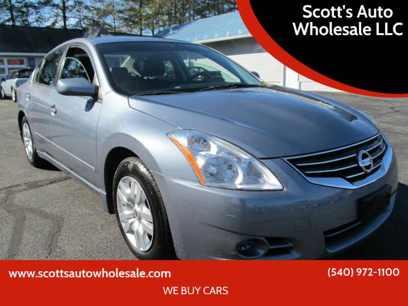 2010 Nissan Altima for sale at Scott's Auto Wholesale LLC in Locust Grove VA