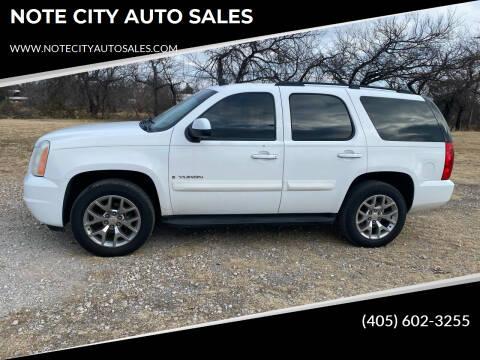 2008 GMC Yukon for sale at NOTE CITY AUTO SALES in Oklahoma City OK