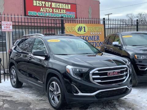 2020 GMC Terrain for sale at Best of Michigan Auto Sales in Detroit MI