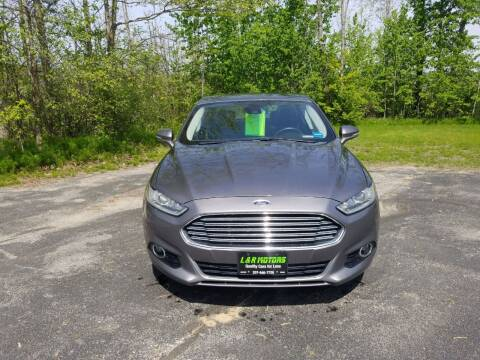 2014 Ford Fusion for sale at L & R Motors in Greene ME