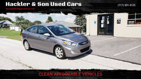 2013 Hyundai Accent for sale at Hackler & Son Used Cars in Red Lion PA