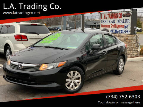 2012 Honda Civic for sale at L.A. Trading Co. Woodhaven in Woodhaven MI