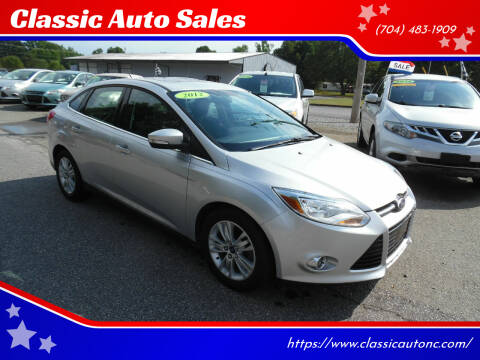 2012 Ford Focus for sale at Classic Auto Sales in Maiden NC