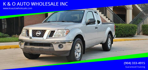 2011 Nissan Frontier for sale at K & O AUTO WHOLESALE INC in Jacksonville FL