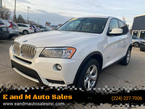 2012 BMW X3 for sale at E and M Auto Sales in East Dundee IL