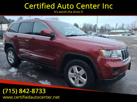 2012 Jeep Grand Cherokee for sale at Certified Auto Center Inc in Wausau WI