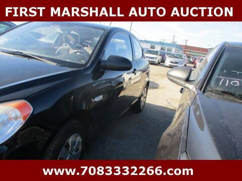 2009 Hyundai Accent for sale at First Marshall Auto Auction in Harvey IL