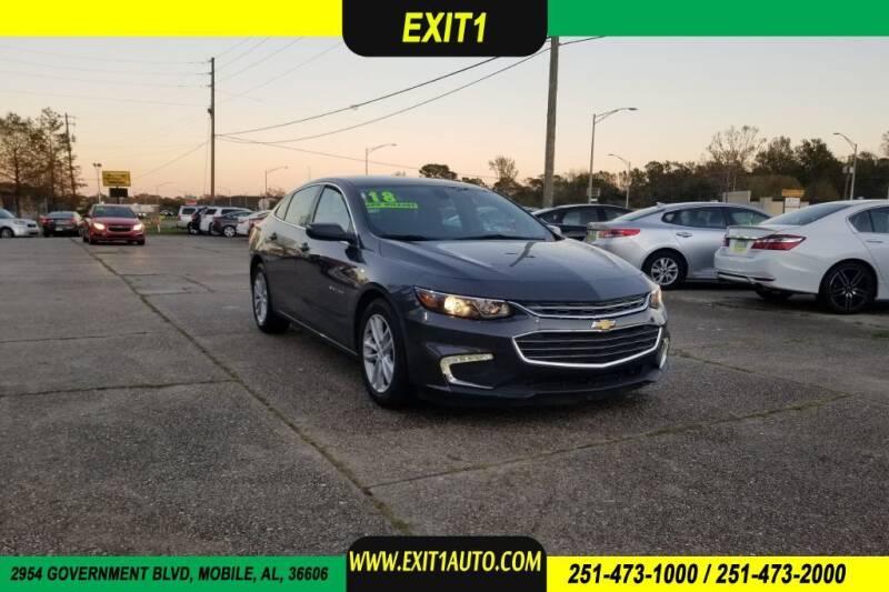 2018 Chevrolet Malibu for sale at Exit 1 Auto in Mobile AL