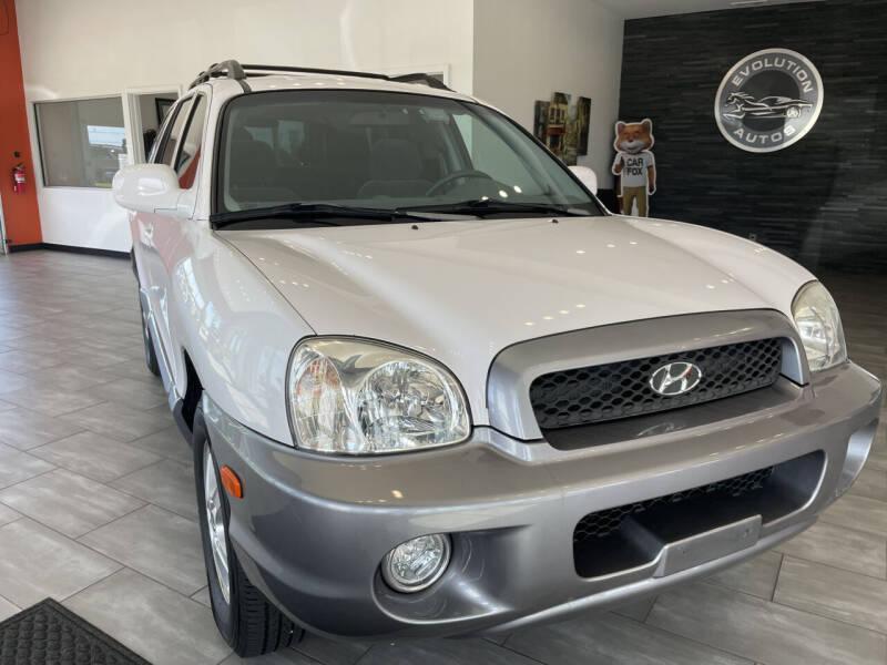 2004 Hyundai Santa Fe for sale at Evolution Autos in Whiteland IN