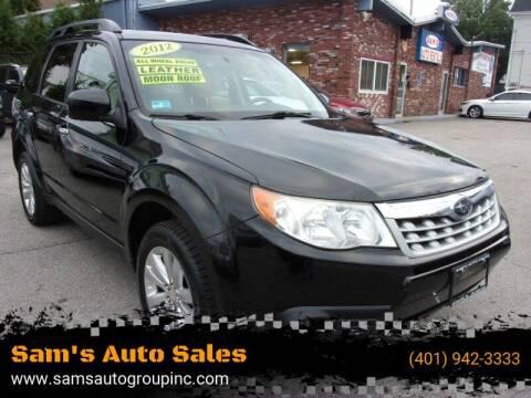 2012 Subaru Forester for sale at Sam's Auto Sales in Cranston RI