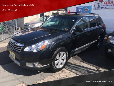 2010 Subaru Outback for sale at Corazon Auto Sales LLC in Paterson NJ