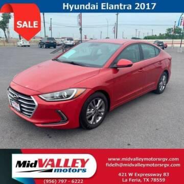 2017 Hyundai Elantra for sale at Mid Valley Motors in La Feria TX