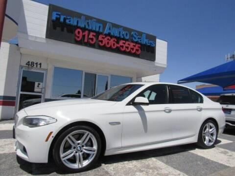 2012 BMW 5 Series for sale at Franklin Auto Sales in El Paso TX