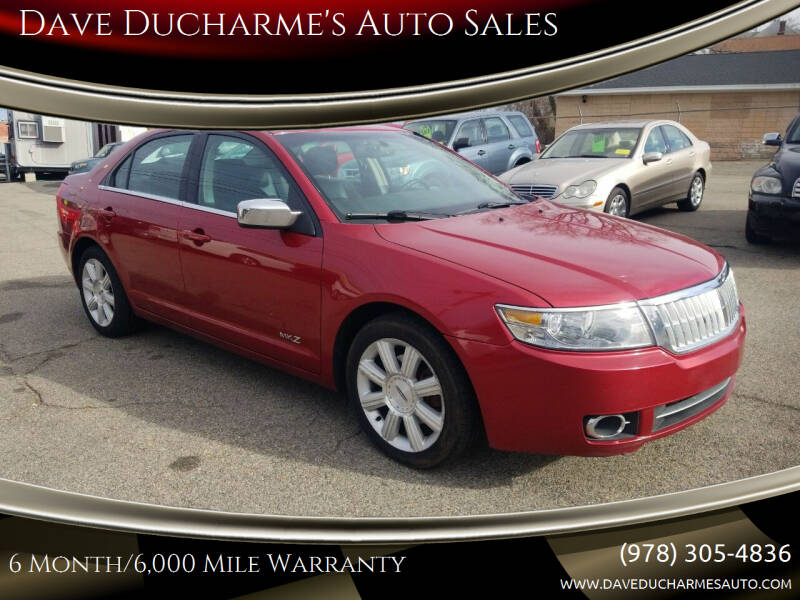 2008 Lincoln MKZ for sale at Dave Ducharme's Auto Sales in Lowell MA