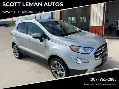 2018 Ford EcoSport for sale at SCOTT LEMAN AUTOS in Goodfield IL