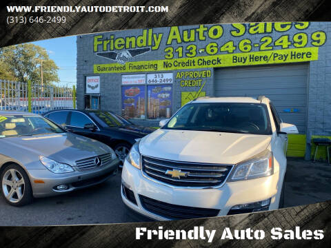 2015 Chevrolet Traverse for sale at Friendly Auto Sales in Detroit MI