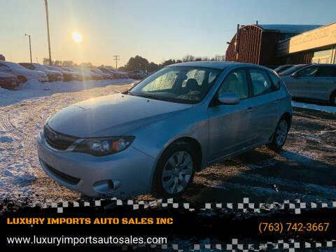 2009 Subaru Impreza for sale at LUXURY IMPORTS AUTO SALES INC in North Branch MN