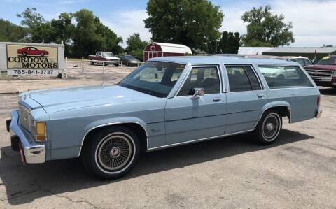 1987 Ford LTD Crown Victoria for sale at Cordova Motors in Lawrence KS