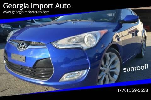 2012 Hyundai Veloster for sale at Georgia Import Auto in Alpharetta GA