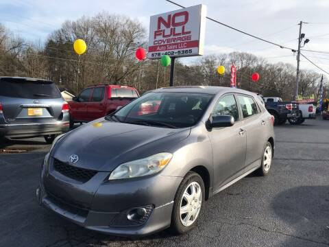2009 Toyota Matrix for sale at No Full Coverage Auto Sales in Austell GA