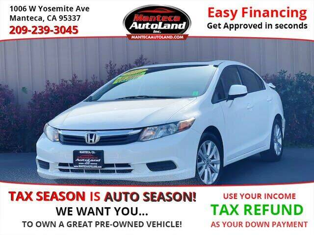 2012 Honda Civic for sale at Manteca Auto Land in Manteca CA