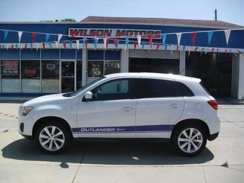 2015 Mitsubishi Outlander Sport for sale at Wilson Motors in Junction City KS