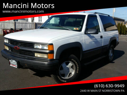 1999 Chevrolet Tahoe for sale at Mancini Motors in Norristown PA