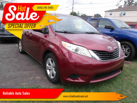 2013 Toyota Sienna for sale at Reliable Auto Sales in Roselle NJ