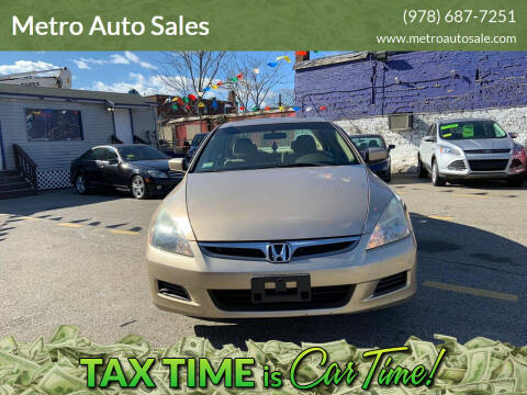 2007 Honda Accord for sale at Metro Auto Sales in Lawrence MA
