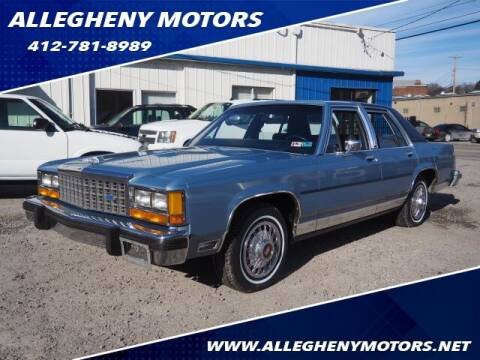 1985 Ford LTD Crown Victoria for sale at Allegheny Motors in Pittsburgh PA
