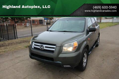 2006 Honda Pilot for sale at Highland Autoplex, LLC in Dallas TX