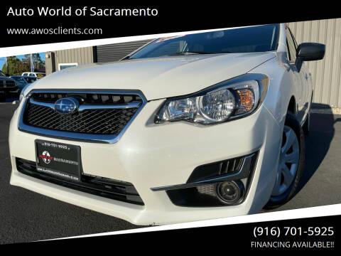 2015 Subaru Impreza for sale at Auto World of Sacramento Stockton Blvd in Sacramento CA