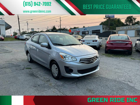 2019 Mitsubishi Mirage G4 for sale at Green Ride Inc in Nashville TN