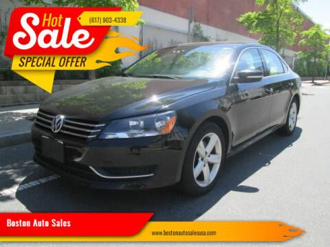 2013 Volkswagen Passat for sale at Boston Auto Sales in Brighton MA
