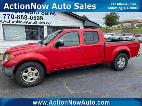 2008 Nissan Frontier for sale at ACTION NOW AUTO SALES in Cumming GA