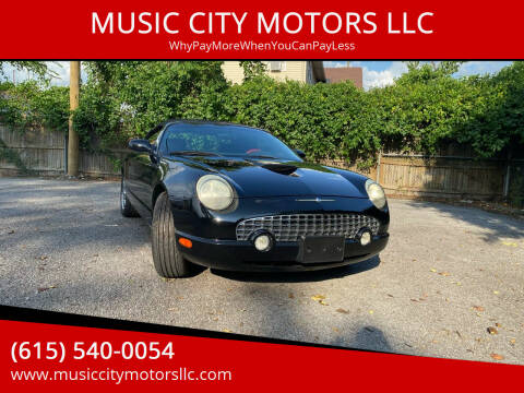 2002 Ford Thunderbird for sale at MUSIC CITY MOTORS LLC in Nashville TN