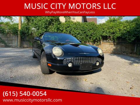 2002 Ford Thunderbird for sale at MUSIC CITY MOTORS LLC in Nashville TN
