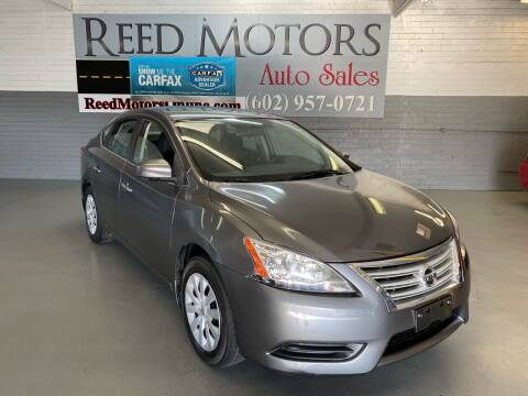 2015 Nissan Sentra for sale at REED MOTORS LLC in Phoenix AZ